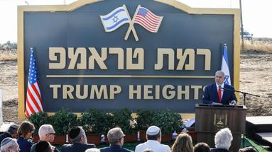Israël : Netanyahu inaugure une colonie baptisée en hommage à Trump