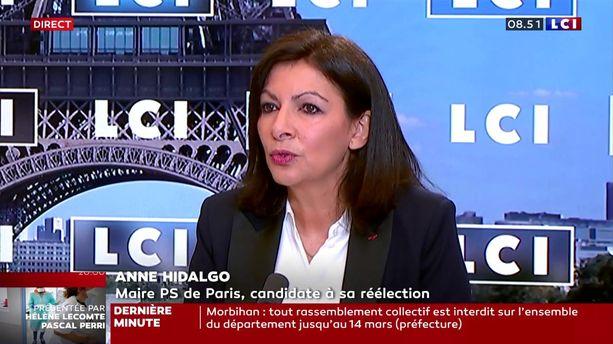 Anne Hidalgo, invitée de LCI