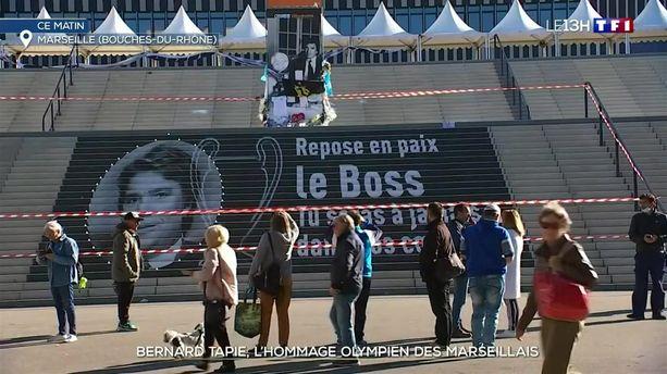 Bernard Tapie : l'hommage olympien des Marseillais