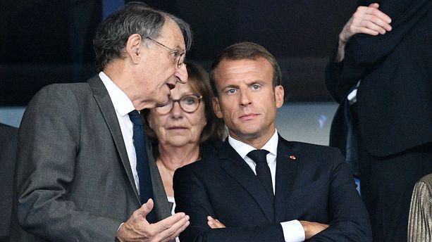 Denis Masseglia, président du CNOSF, avec Emmanuel Macron en septembre 2018.