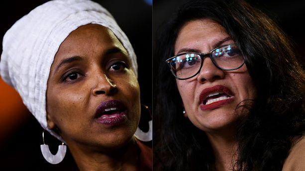 Les élues américaines  Ilhan Omar et Rashida Tlaib.
