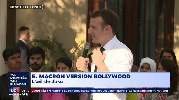 Emmanuel Macron version Bollywood