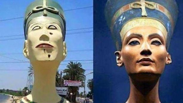 L'étrange statue de Néfertiti qui indigne l'Egypte
