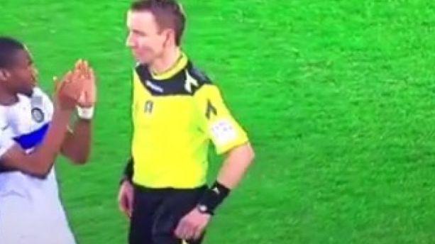 "VIDÉO - ITALIE : parce qu'il a ""applaudi"" l'arbitre, Geoffrey Kondogbia prend 2 matchs"
