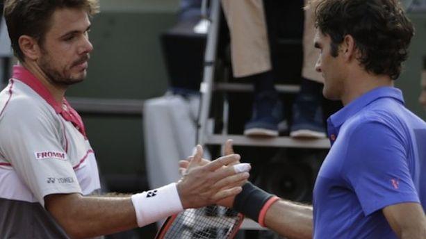 "Roland-Garros : ""Bravo à Stan"", salue Federer battu par Wawrinka"