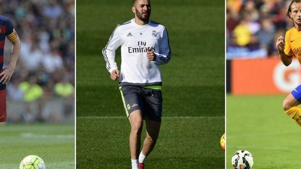 Clasico: Messi, Benzema, Rakitic... seront-ils sur le terrain samedi?
