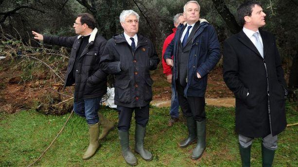 Ayrault et Valls au chevet du Var