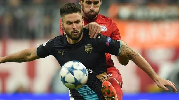 VIDÉO - Le joli, mais inutile, but d'Olivier Giroud face au Bayern