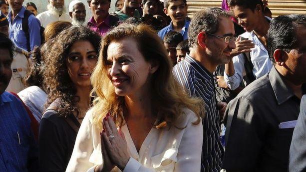 PHOTOS  - Valérie Trierweiler, bons baisers d'Inde