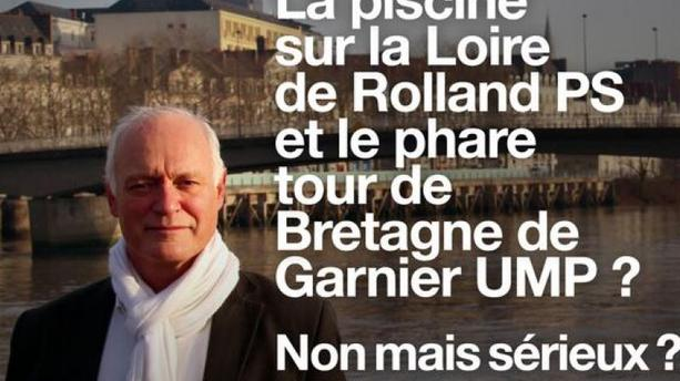 A Nantes, un candidat tacle les concurrents à coup de cartes postales