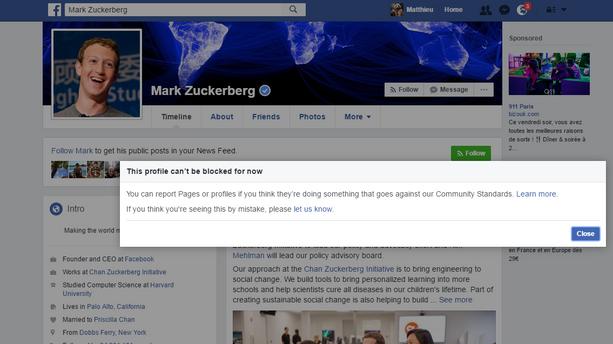 Pourquoi vous ne pouvez pas bloquer Mark Zuckerberg sur Facebook
