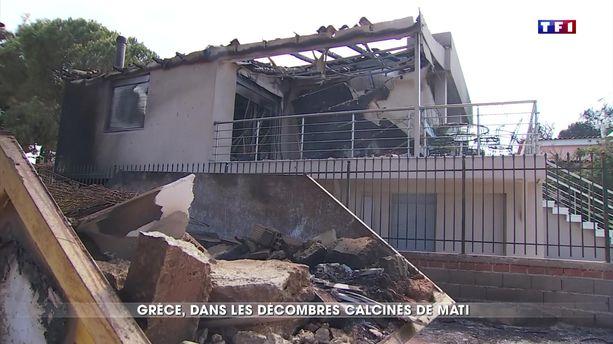 Grèce : dans les décombres calcinés de Mati