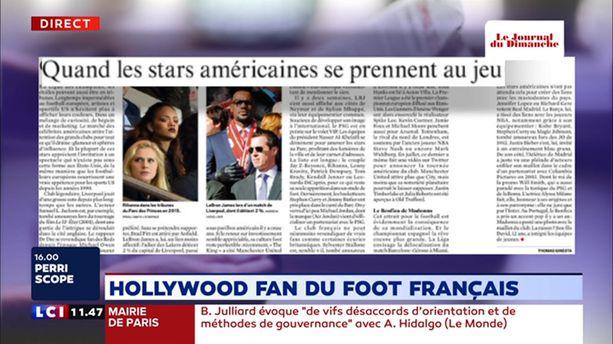 Hollywood, fan du foot français