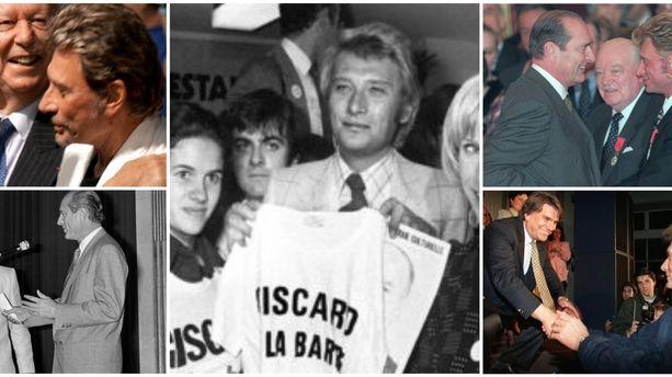 Giscard, Chirac et Sarkozy : Johnny Hallyday, l'idole de droite