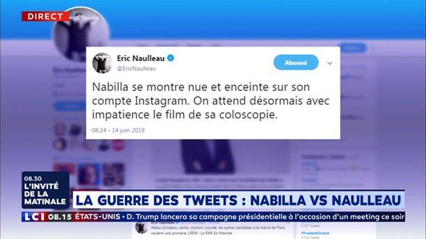 La guerre des tweets : Nabilla VS Naulleau