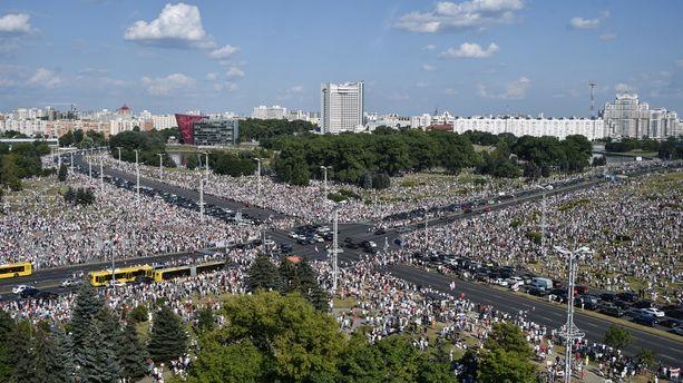 La manifestation de l'opposition à Minsk