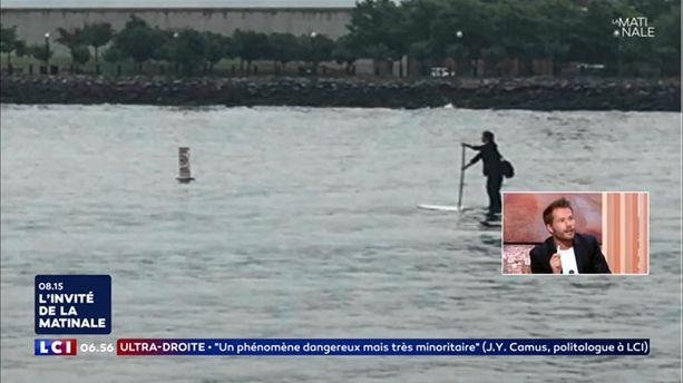 "La traversée de l'Hudson River en ""paddleboard"""