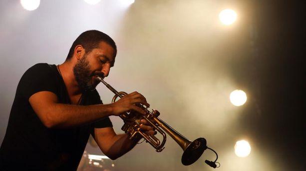 Ibrahim Maalouf lors du festival Jazz à Nice en juillet 2019