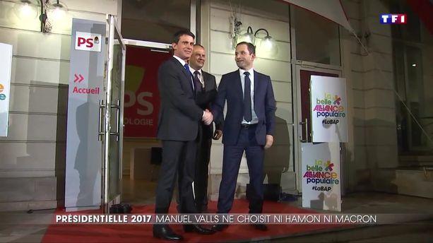 Manuel Valls ne parrainera pas Benoît Hamon