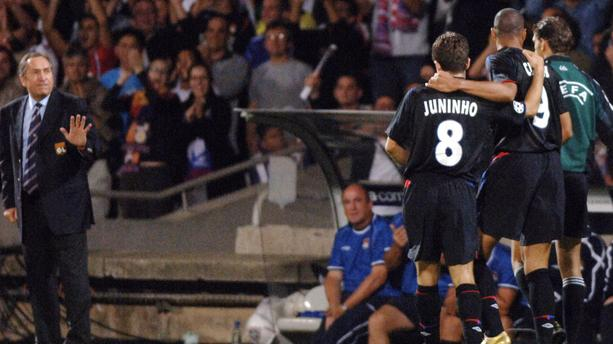 Juninho lors d'OL-Real Madrid en septembre 2006