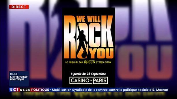 """We will rock you"" au Casino de Paris"