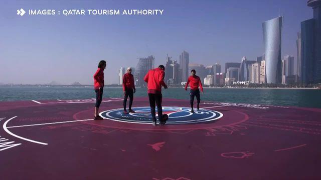 La chaussure de Neymar termine dans la mer de Doha — PSG