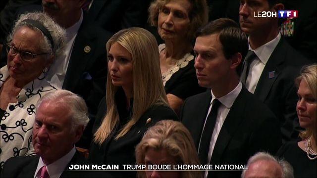 Obsèques de John McCain : Donald Trump boude l'hommage national